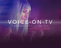 Voice on TV