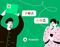 """Asapasa"" IOS App Design - Logo - Illustrations."