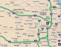Illinois Tollway System Map for Rent A Toll
