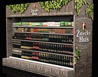 Branding of the beer section for Zatecky Hus