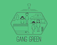 Gang Green T-shirt Design