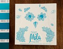 Faire-part naissance Mila