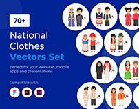 National Clothes Vectors Set