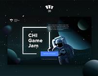CHI Game Jam website design