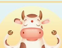 Meditation Cow