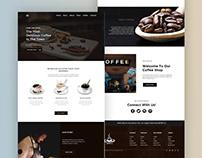 Coffe Shop Landing Page UI Concept