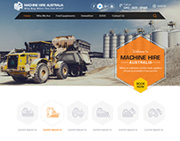 Construction Machine Web Templates Design by Nexstair