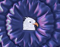3D Falling Glossy Logo