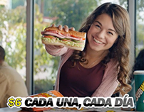 Subway - Simple 6 Menu - TV - Spanish