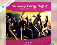 Club Party Night Banner Psd