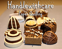 Sweet quilled chocolates