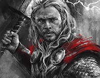 Thor: Illustrated Print