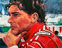 Ayrton Senna 200x100cm