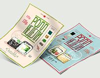 Рекламные листовки для сети ресторанов суши