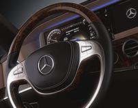 Mercedes S Class steering wheel