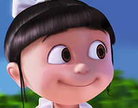 ILUSTRACION DIGITAL - AGNES, DESPICABLE ME