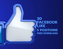 3D Facebook Like - FREE DOWNLOAD