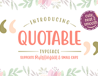 Free* Quotable Font (Free Version)