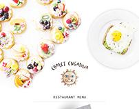 Menu restaurant and bar Chalet Engadina