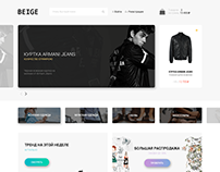 BEIGE - Fashion Website Design | FREE PSD