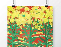 Paper plant prints.