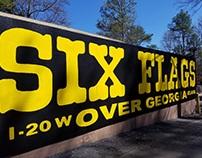 Six Flags Bumper Sticker