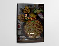 Mr Singh's Menu Design