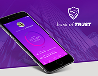 Bank of TRUST - iPhone & iPad App Concept