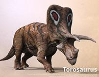 Torosaurus making
