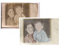 Restoration, mother & daughter (Jewish ghetto, c 1944)