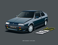 Car Illustration - Renault 19 16S