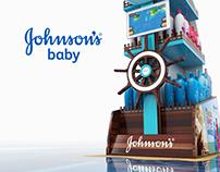 Exhibidor de piso - Johnson's Baby