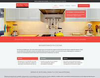 Kinova: Kitchen renewal website
