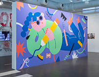 Daydreamer Mural for Arte Urbana Exhibition