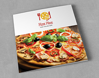 Pizza Place Square Trifold Brochure
