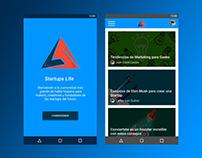 Startups Life App Design