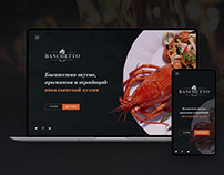 Banchetto italian restaurant website and logo
