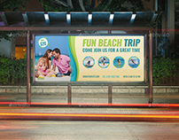 Tour and Travel Billboard Template Vol.2