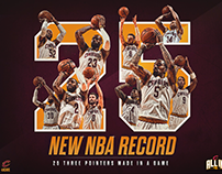 NBA Record For Threes In A Game | Social Graphic