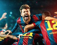 Messi & Pique Retouch