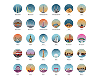 World popular buildings and cities