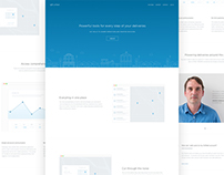 Onfleet / Landing page,product design