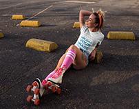 T-Shirt Mockup of a Trendy Woman Posing