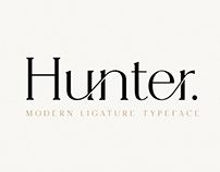 Hunter - Serif Ligature Font