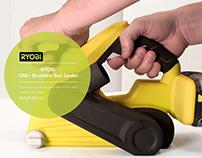 RYOBI ONE+ Brushless Belt Sander Early Development