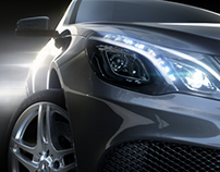 E- Class Coupe. V-ray for Maya
