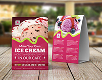 Ice Cream Table Tent Template Vol.4