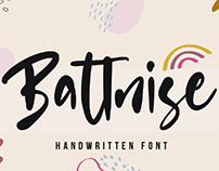 FREE | Battnise Handwritten Font