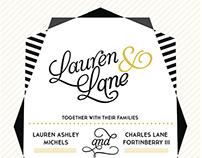 Lolo and Lane Wedding invites