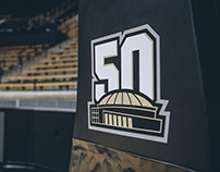 Purdue | Mackey Arena 50th Logo